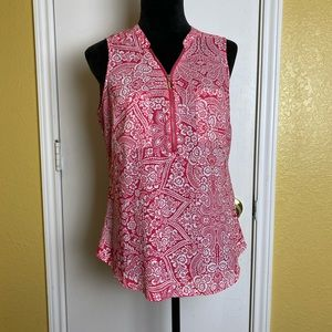 New York And Company Pink Sleeveless Blouse M